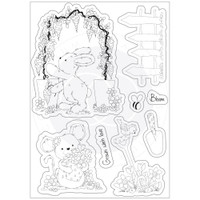Craft Consortium - Clear Stamp Set A5 - Cottage Garden - Green Fingers (CSTMP032)