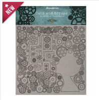 "Stamperia - Chipboard / Greyboard 11.8""X11.8"" - 1mm Thick - Lady & Gears (KLSPD002)"