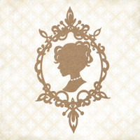 Blue Fern Studios - Chipboard - Jane's Memoirs - Jane's Cameo (144479)