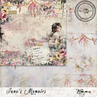 Blue Fern Studios - Jane's Memoirs - 12x12 dbl sided paper - Emma