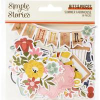 Simple Stories - Bits & Pieces Die-Cuts 56/Pkg - Summer Farmhouse (SFH12616)