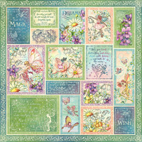 Graphic 45 - Fairie Wings - Double sided 12x12 Paper - Butterfly Whimsy (FAIR450 2076)