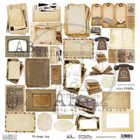 """AB Studios - 12x12 Elements to cut out - """"Vintage Day"""" (VNTGDAY-ELMT)"""