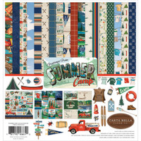 Carta Bella - 12x12 Collection Kit - Summer Camp (CBSC119016)