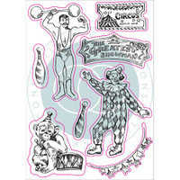 Craft Consortium - A5 Clear Stamps - Circus - Greatest Show