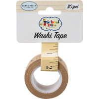 Carta Bella - Washi Tape 30Ft/Pkg - School Days - Ruler (DS118027)