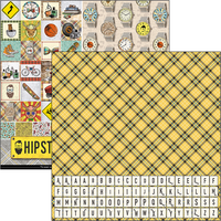 """Ciao Bella - 12""""X12"""" Double-Sided Patterns Pad 7/Pkg - Hipster (CBT035)"""