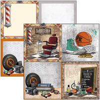 """Ciao Bella - 12""""X12"""" Double-Sided Paper Pack 11/pkg - Hipster (CBPM035)"""