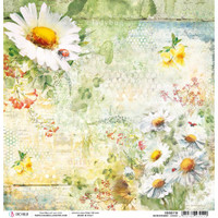 Ciao Bella - Double Sided Paper 12x12 - Microcosmos - Daisies (CBSS118)