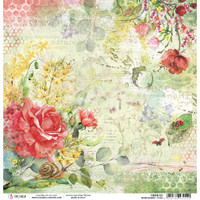 Ciao Bella - Double Sided Paper 12x12 - Microcosmos - Roses (CBSS121)