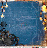 Craft O'Clock -Double Sided Paper 12x12 - Age of Technology - 03 Vintage Bulbs (CC-AT-F7-03)