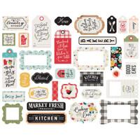 Echo Park - Cardstock Frames & Tags 33/Pkg - Farmhouse Kitchen (FK216025)