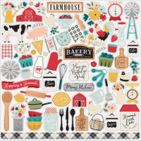 Echo Park - Cardstock Element Stickers 12x12 - Farmhouse Kitchen (FK216014)