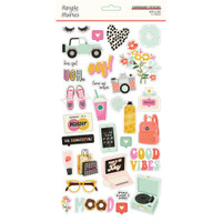 Simple Stories - Chipboard Stickers 6x12 - Kate & Ash (KA13115)
