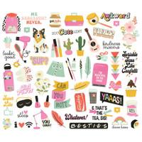 Simple Stories - Bits and Pieces Die Cuts 57/Pkg - Kate & Ash (KA13116)