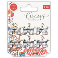 Craft Consortium - Circus Metal Charms 6/Pkg - Big Top (CCMCHR12)