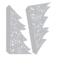 Sizzix Thinlits Die Set 2PK - Christmas Tree Card (664467)