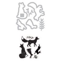 Sizzix Framelits Die Set 7PK w/Stamps - Wilderness (664465)