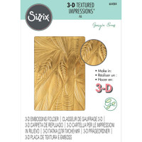 Sizzix 3-D Textured Impressions Embossing Folder - Fallen Leaves (664504)