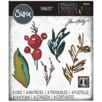 Sizzix Thinlits Die Set 9PK - Holiday Brushstroke by Tim Holtz (664736)