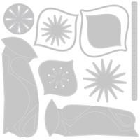 Sizzix Thinlits Die Set 10PK - Ornamental Birds by Tim Holtz (664740)