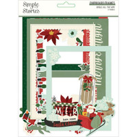 Simple Stories - Layered Chipboard Frames Die-Cuts - Jingle All The Way (JGL13719)