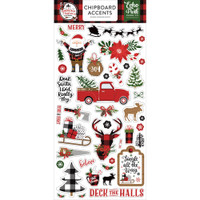 Echo Park - Chipboard 6x13 - A Lumberjack Christmas - Accents (LC220021)