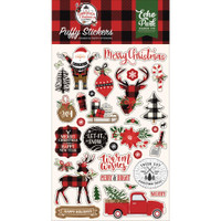 Echo Park - Puffy Stickers - A Lumberjack Christmas (LC220066)