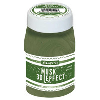 Stamperia -Musk 3D Effect 100ml - Dark Green (K3P65)