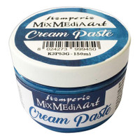 Stamperia - Metallic Cream Paste 150ml - Blue (K3P53G)