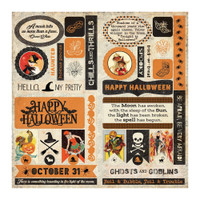 Authentique - Double-Sided Cardstock Die-Cut Sheet 12x12 - Masquerade - (MQR009)