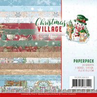 """Find It Trading - Yvonne Creations - Christmas Village - Dbl Sided Paper Pack 6""""X6"""" 23/Pkg (CPP10033)"""
