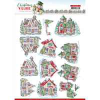 Find It Trading - Yvonne Creations - Christmas Village - Punchout Sheet - Christmas Houses (SB10474)