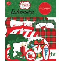 Carta Bella - Cardstock Ephemera 33/Pkg - Dear Santa (CBDE125024)