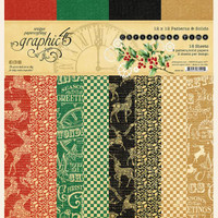 """Graphic 45 - Patterns & Solids 12""""X12"""" - Christmas Time (G4502120)"""