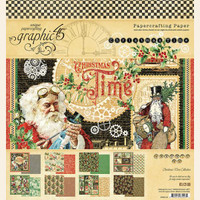 "Graphic 45 - Double-Sided Paper Pad 8""X8"" 24/Pkg - Christmas Time (G4502118)"