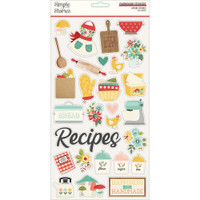 Simple Stories - Chipboard Stickers 6x12 - Apron Strings (APR14015)