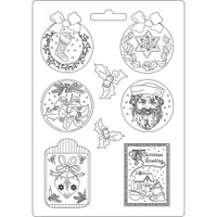 """Stamperia Soft Maxi Mould """"11.69X8.27"""" - Classic Christmas (K3PTA469)"""