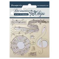 "Stamperia - Decorative Chips 5.5""X5.5"" - Music (SCB5.5 - 11)"