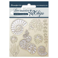 "Stamperia - Decorative Chips 5.5""X5.5"" - Shells (SCB5.5 - 12)"