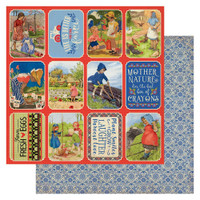 Authentique - Double Sided Cardstock 12x12 - Cultivate - Images & Sentiments #5 (CUL12 005)