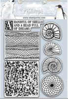 """Stamperia - HD Natural Rubber Stamp 5.51""""x7.08"""" Shells - Arctic Antarctic- Shells (WTKCC177)"""
