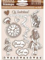 "Stamperia - Cling Rubber Stamp 5.51""X7.08"" - Alice (WTKCC185)"