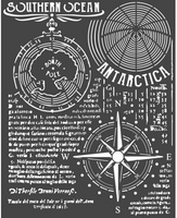"Stamperia - Stencil 7.87"" X 9.84"" - Southern Ocean (KSTD055)"