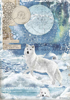 Stamperia - Decoupage Rice Paper A4 8.26x11.69 - Wolf (DFSA4480)