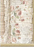 Stamperia - Decoupage Rice Paper A4 8.26x11.69 - Princess - Roses and Music (DFSA4486)
