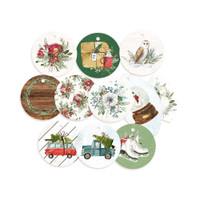 P13 - Cardstock Tags 11/Pkg- The Four Seasons - Winter - Decorative Tags (P13WIN21)