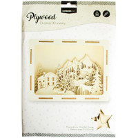 Studio Light - 3-D Plywood Favourites Scenery - Mountian Village (PWSL16)
