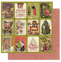"""Authentique - Double-Sided Cardstock 12""""X12"""" - Christmas Greetings - #6 Deck The Halls (CMG12 006)"""