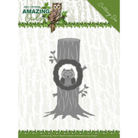 Find It Trading - Amy Design - Metal Die - Amazing Owls - Owl In Tree (ADD10218)